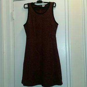 Burgundy tweed dress